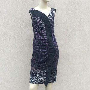 Diane von Furstenberg Ruffle Trim Cocktail Dress S